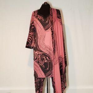 Black & Pink Salwar Kameez W/Dupatta